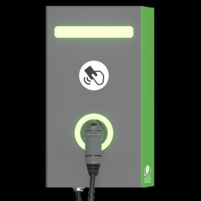 Электрозаправка настенная UGV Chargers 1 кабель Тип 2, 22 кВт