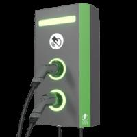 Электрозаправка настенная, 22+22 кВт, два порта Тип 2 от UGV Chargers