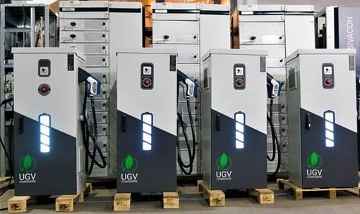 Быстрая зарядка для электромобиля UGV Chargers