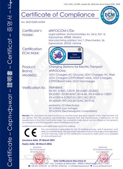 Сертифікат СЄ